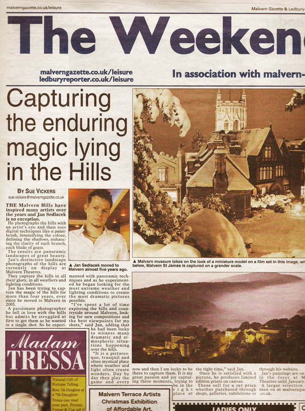 Malvern Gazette article about Malvern Theatre Exhibition