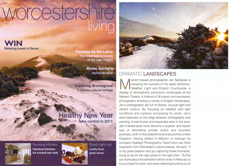 My images used as cover for Worcestershire Living