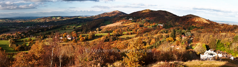 Late Autumn - View from British Camp - Malvern Hills