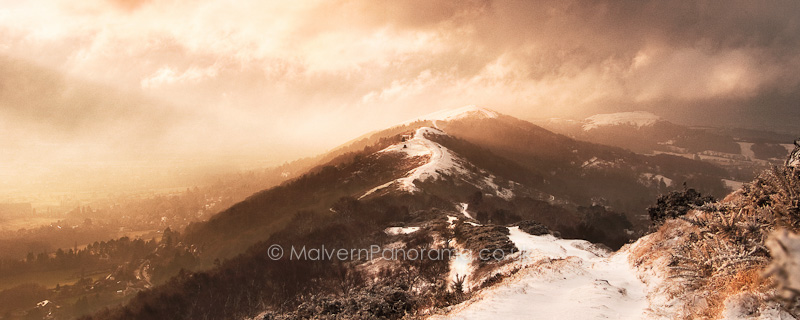 Winter Morning Drama - Malvern Hills